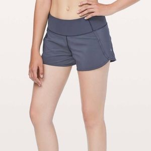 NWT Lululemon Run Times Shorts Cadet Blue size 8!